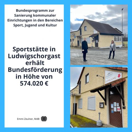2021 03 03 Bundesförderung Sportsätte Ludwigschorgast