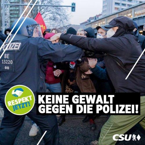 2021 05 Keine Gewalt gegen die Polizei