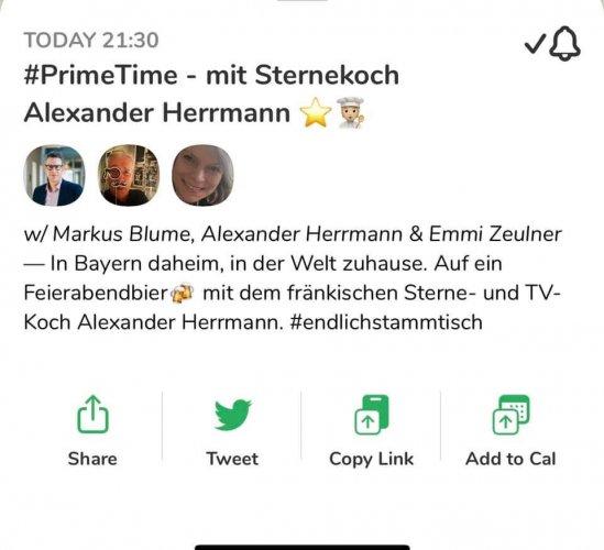 2021 #PrimeTime - mit Sternekoch Alexander Herrmann