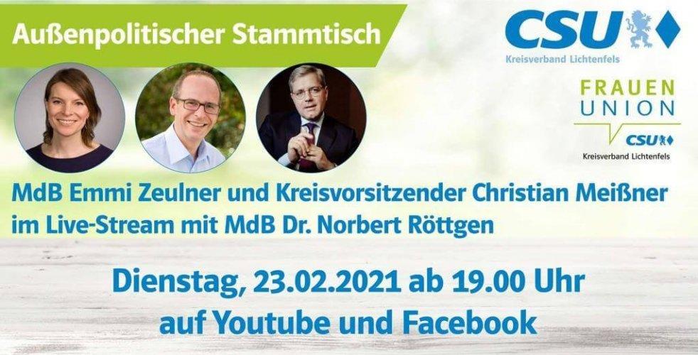 Außerpolitischer Stammtisch-MdB Dr. Norbert Röttgen